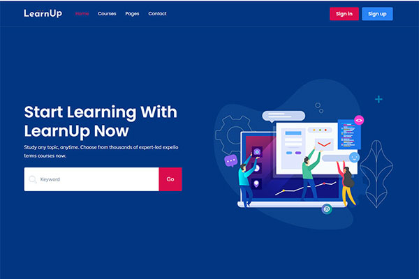Webmaster Education 39 - LearnUp - Education Template