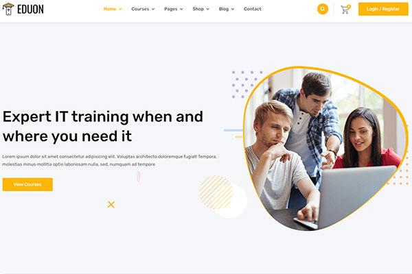 Webmaster Education 18 - Eduon - Online Courses & Training Template