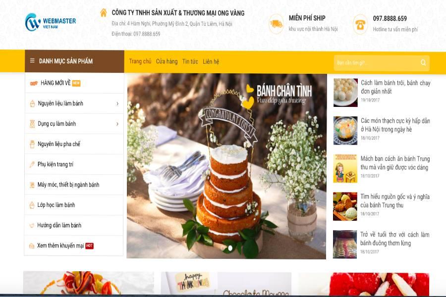 Thiết kế website tiệm bánh ngọt