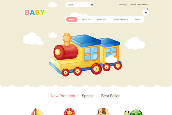 Webmaster Retail 04 - Baby Store