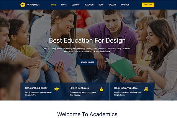 Webmaster Education 02 - Academics - Education