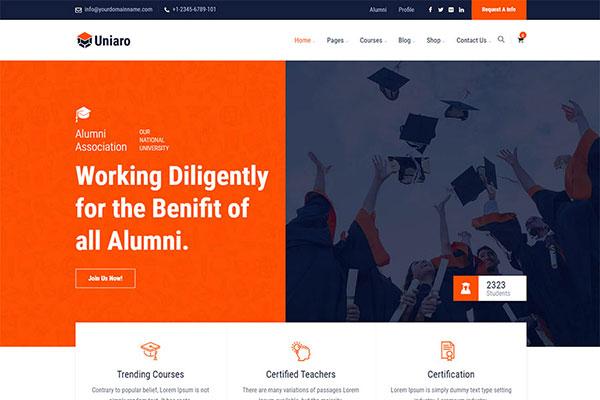 Webmaster Education 44 - Uniaro - LMS Education Template