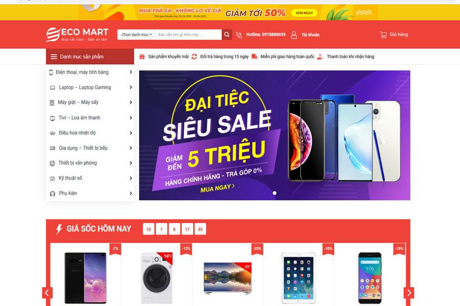 Eco Mart - Thiết kế Website Điện Máy Chuẩn SEO