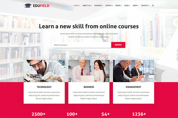 Webmaster Education 11 - EduField - Education and Online Courses Template
