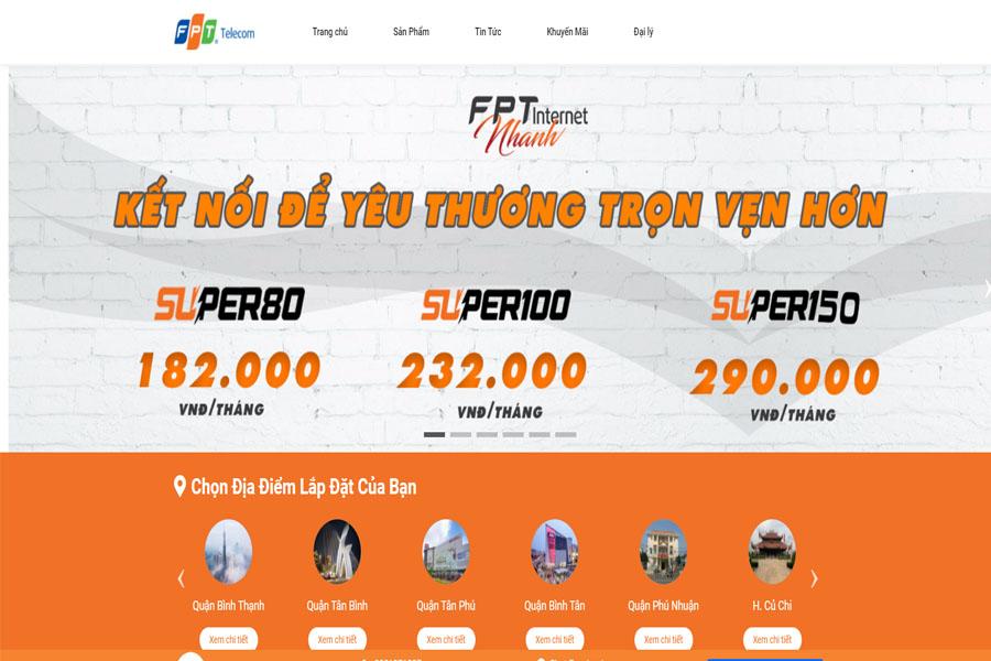 Thiết kế Website FPT TP.HCM - Đăng ký Online mùa Covid