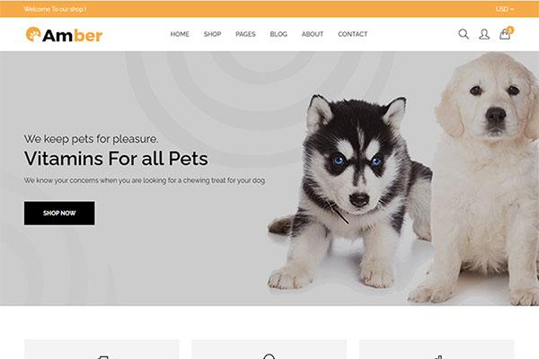 Webmaster Retail 01-Amber - Pet Care Shopify