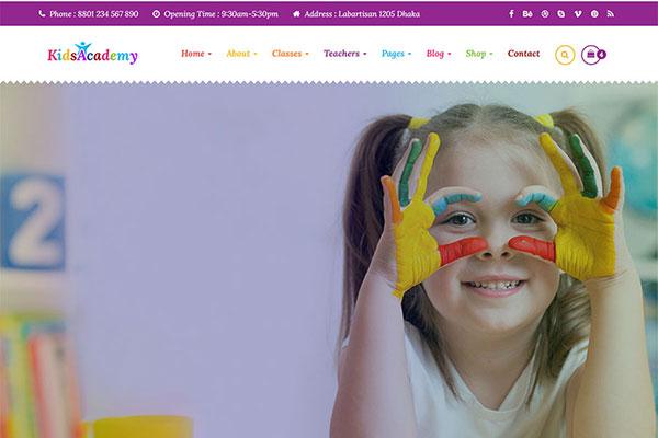 Webmaster Education 01 - KidsAcademy -Kids Kindergarten & School