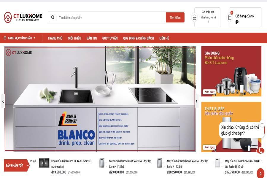 CT LuxHome   -  Website Hệ thống Điện Máy Nhà Bếp Cao Cấp