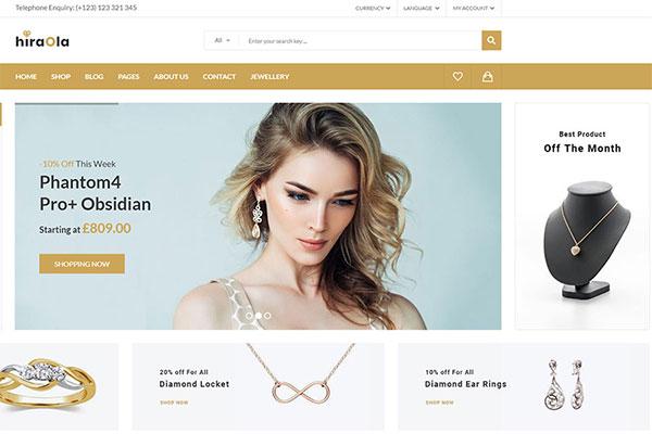 Webmaster FashionBeauty 02 - Hiraola - Jewelry Store Template