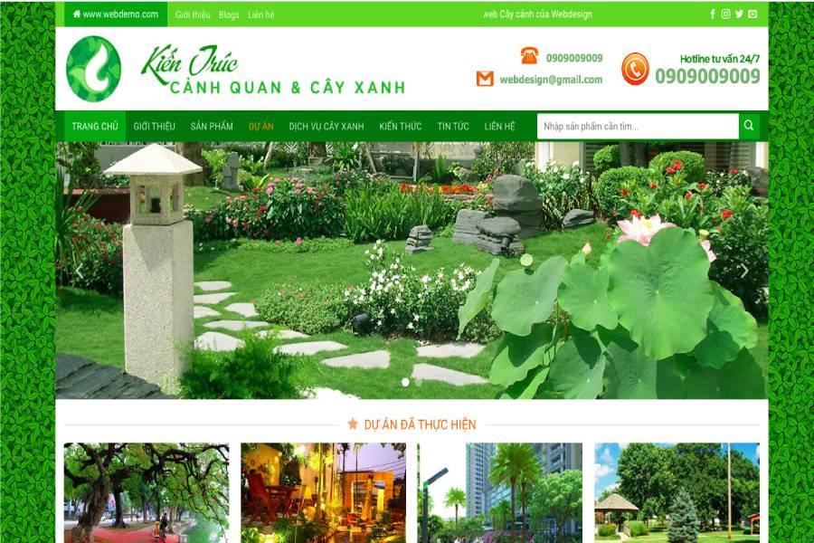 Thiết kế website kiến trúc cảnh quan và cây xanh