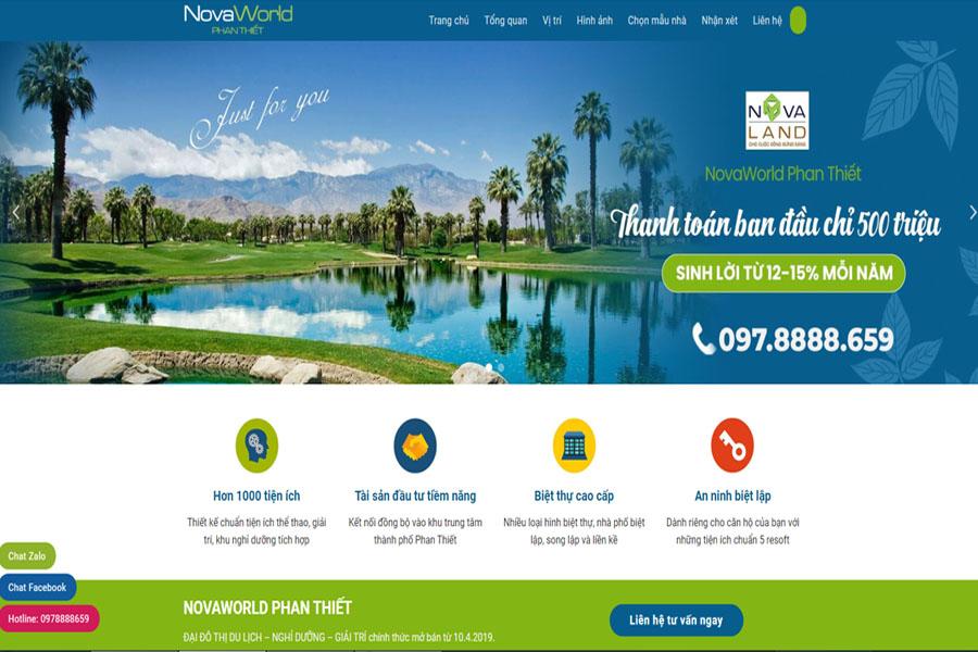 Website bất động sản NovaWorld Phan Thiết