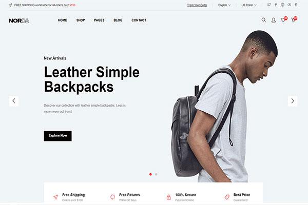 Webmaster Retail 15 - Norda - Minimal eCommerce Template