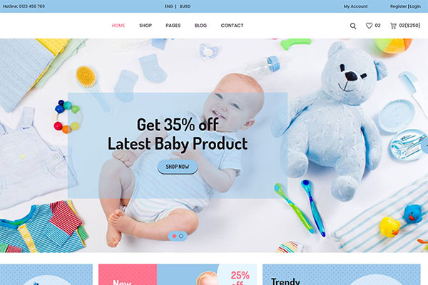 Webmaster FashionBeauty 03 - Jadusona - Baby ShopTemplate