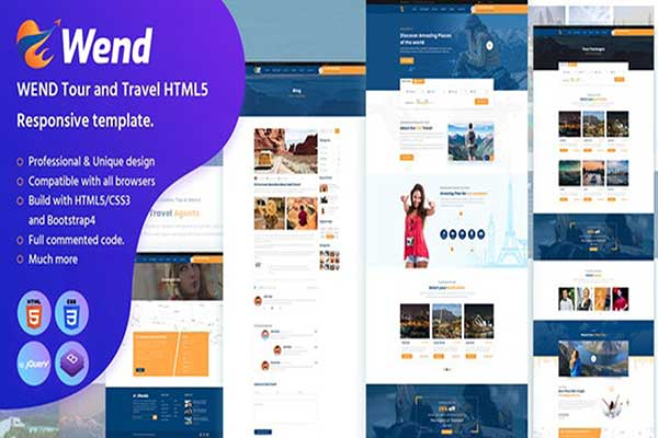 Webmaster Sport & Travel 02 - Wend - Tour and Travel