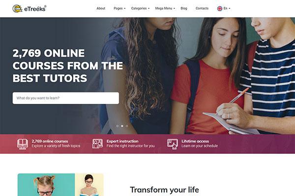 Webmaster Education 26 - eTreeks - Online Courses & Education Landing Page