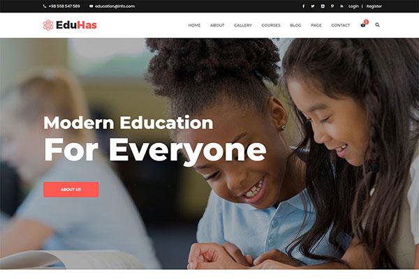 Webmaster Education 12 - Eduhas - Education Template