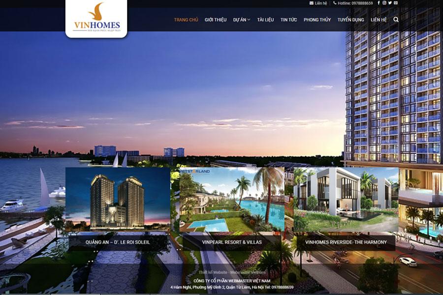 Thiết kế website bất động sản đẹp