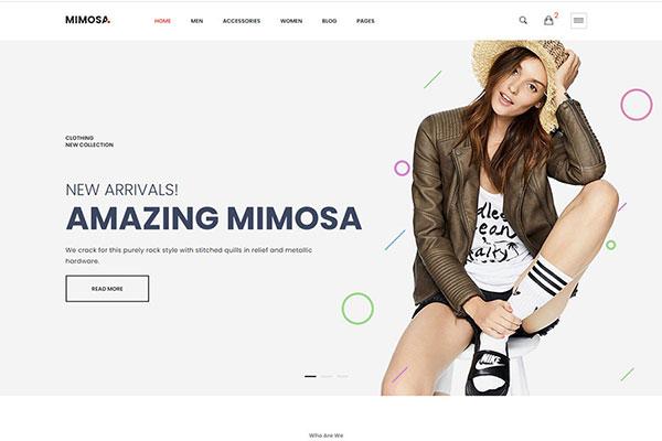 Webmaster FashionBeauty 05 - Mimosa - Fashion eCommerce Template