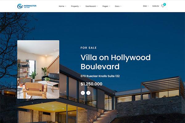 webmaster Real Estate 02 -  HomeID – Real Estate Template