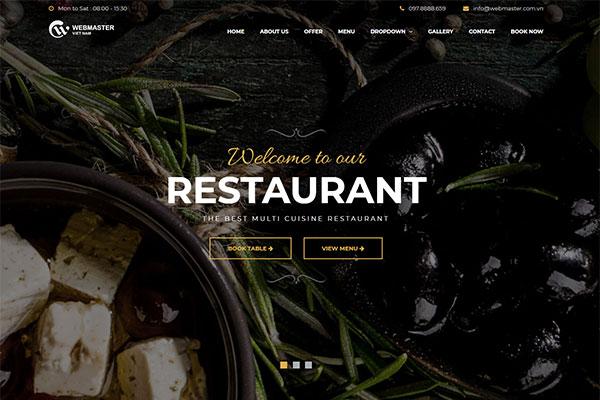 Webmaster Landing page 01 - BiteMe - Dịch vụ ăn uống, kinh doanh thực phẩm