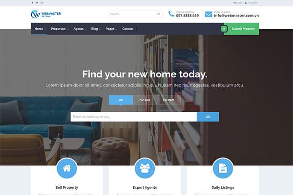 webmaster Real Estate 03 - Homely - Real Estate Template