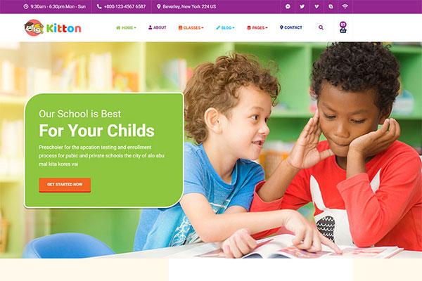Webmaster Education 37 - Kitton - Kids Kindergarten And Pre-School Template