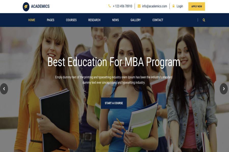 Academics - Best Education For MBA Program