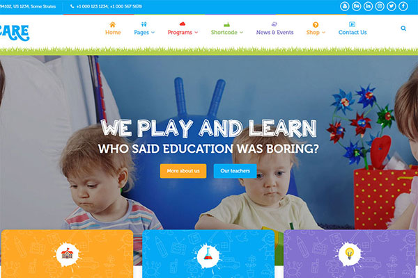 Webmaster Education 35 - KIDZCARE - Children Day Care Template