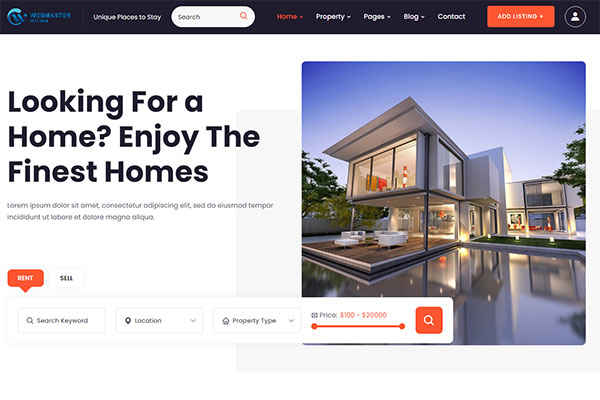 webmaster Real Estate 01 -  Fido - Real Estate Template