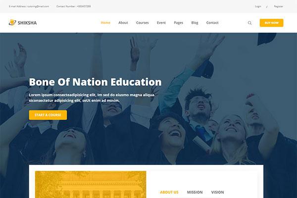 Webmaster Education 42 -  Shiksha Education Template
